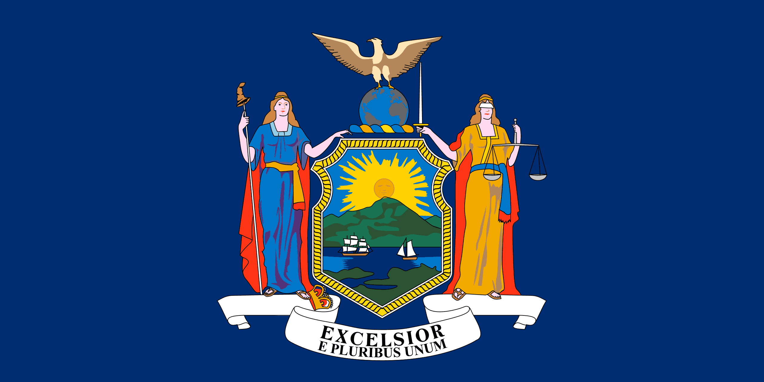 New York State Flag - New York State Drone Laws