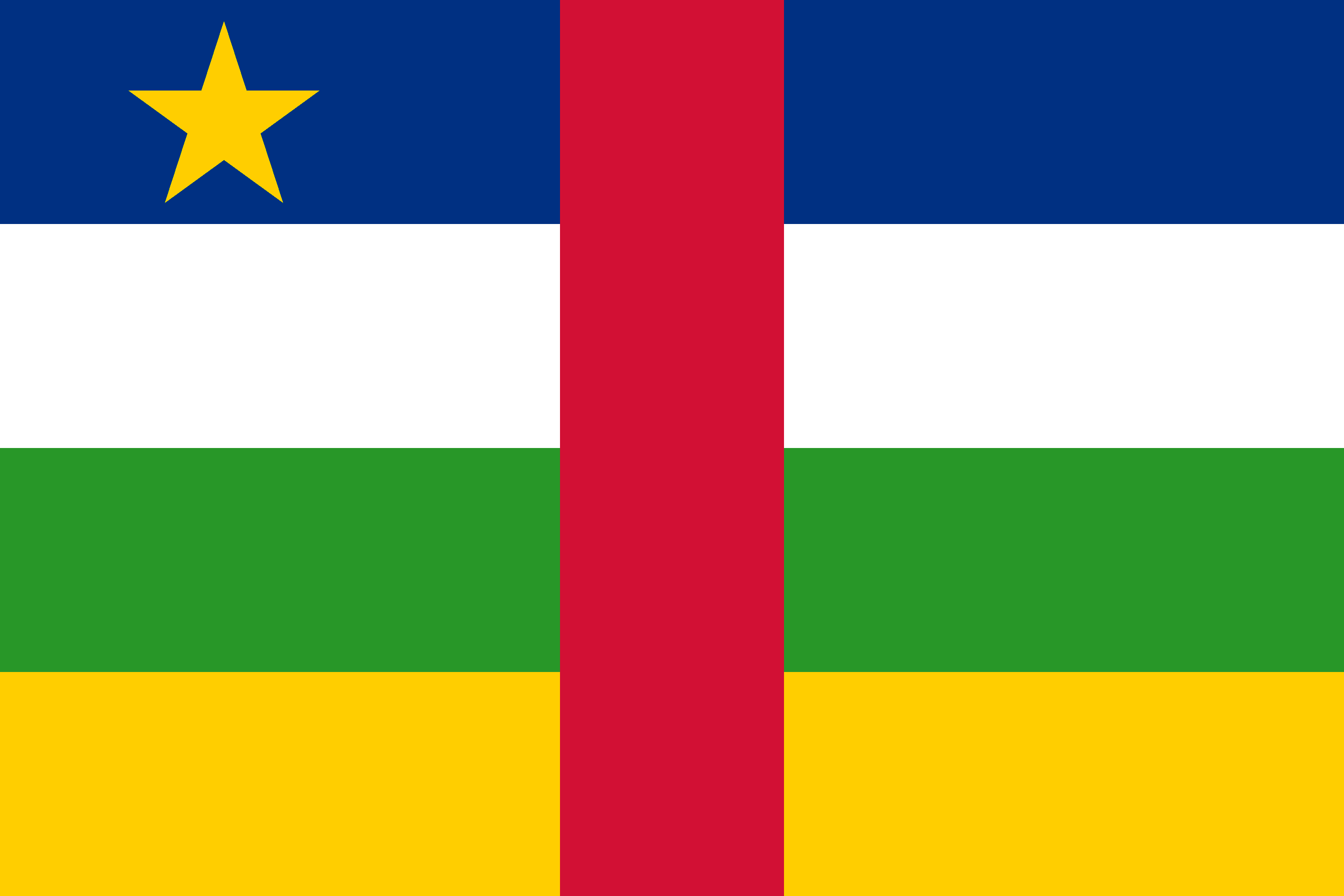Central African Republic Flag - Central African Republic Drone Laws