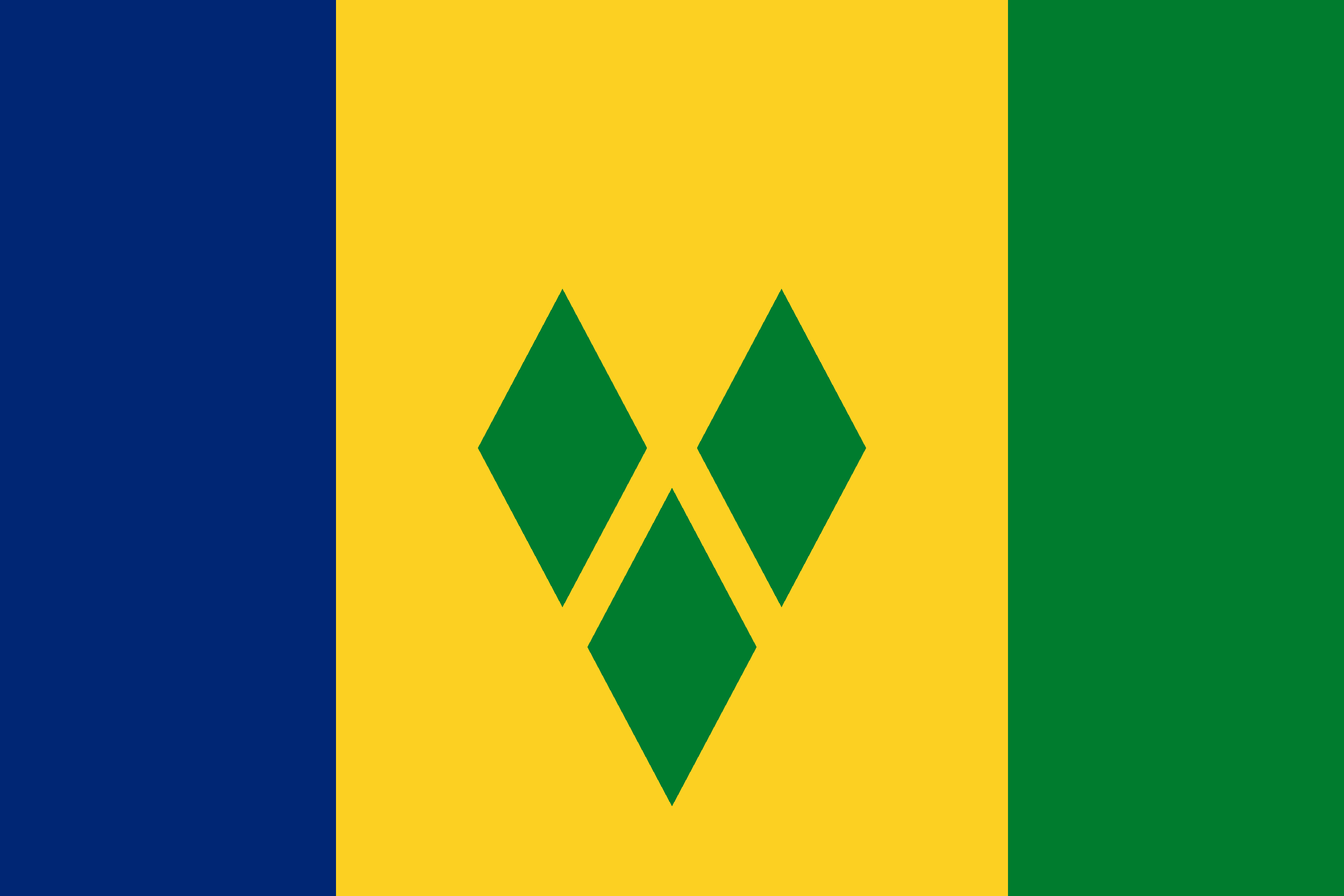 Saint Vincent and the Grenadines Flag - St. Vincent and the Grenadines Drone Laws