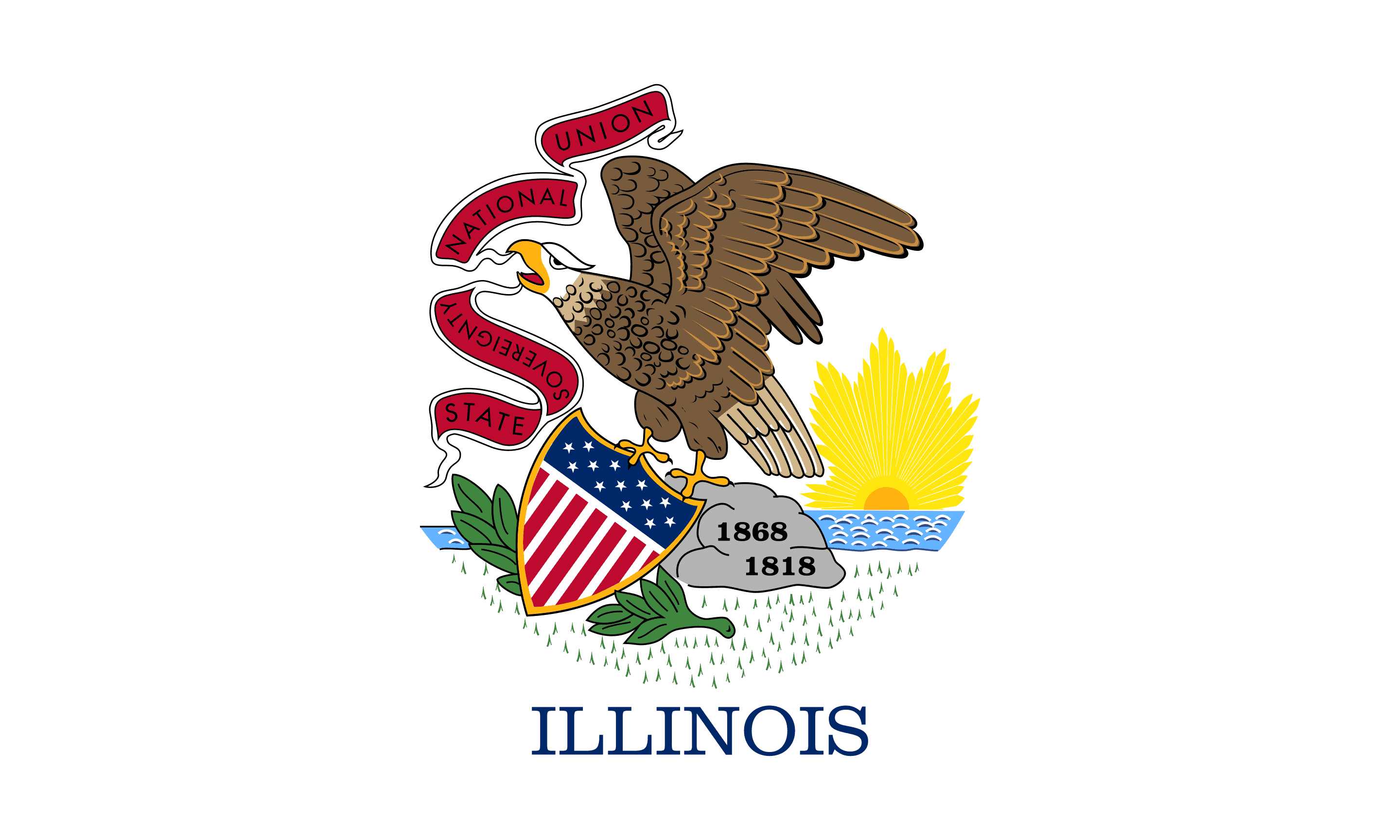 State of Illinois Flag - Illinois Drone Laws