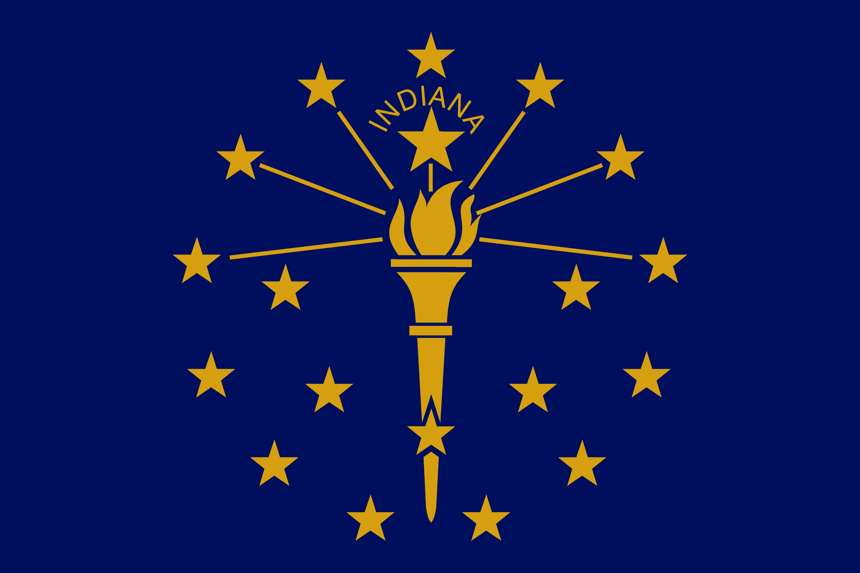 State of Indiana Flag - Indiana Drone Laws